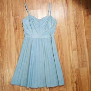 Baby Blue Faux Leather Dress